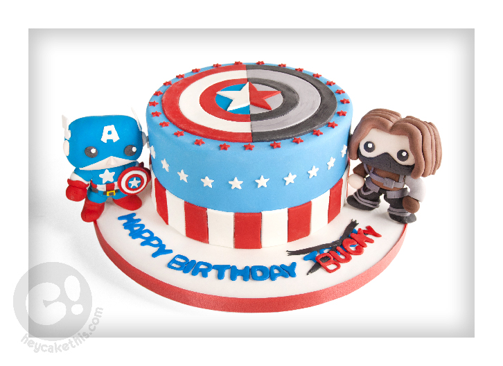 Bucky And Captain America Cake