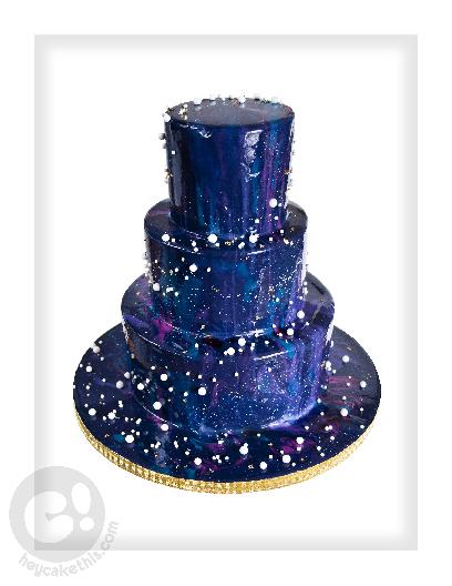 Mirror Galaxy Wedding Cake
