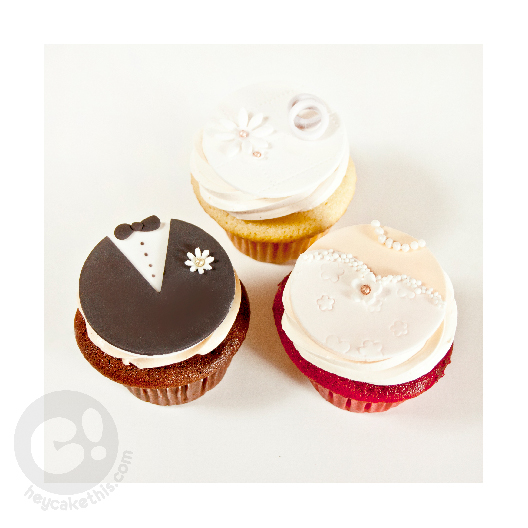 bd3d930be558 Bride and Groom Cupcakes.